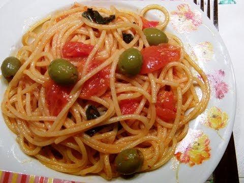 Быстрый рецепт.Паста с помидорами.Итальянская кухня.