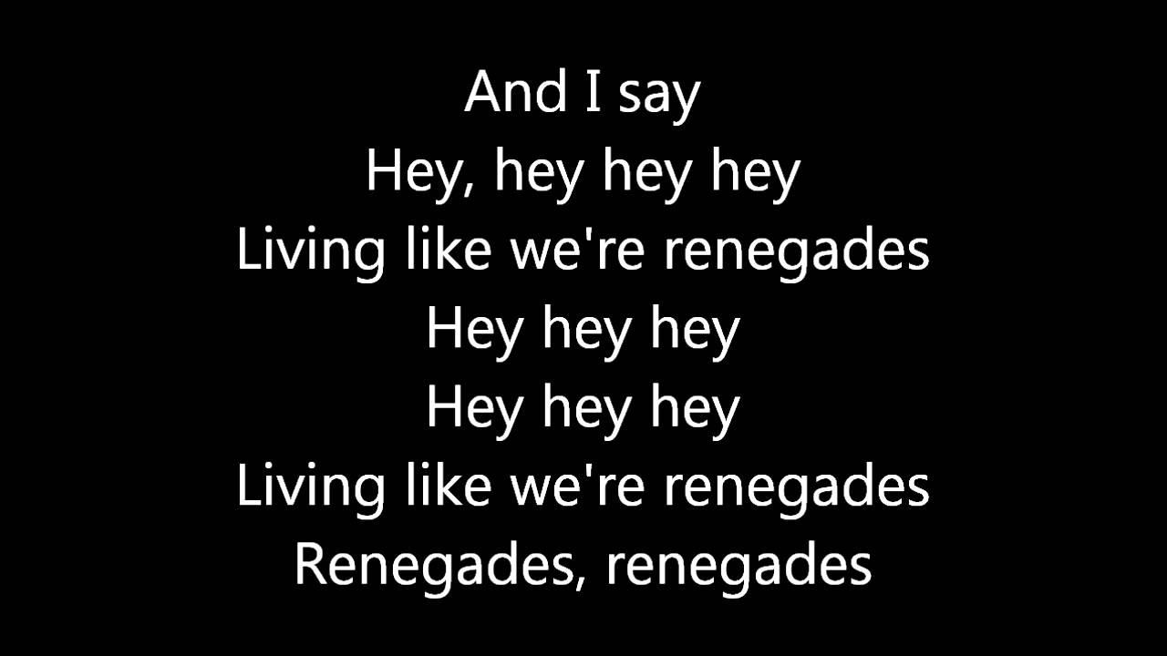 Download X Ambassadors -  Renegades - Lyrics