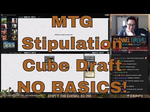 MTG - Stipulation Legacy Cube - NO BASIC LANDS!