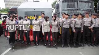 Video Indonesia: Heavy police presence outside Jakarta court as protesters demand Ahok's imprisonment download MP3, 3GP, MP4, WEBM, AVI, FLV Oktober 2018