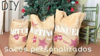 DIY Cómo hacer sacos de Navidad para tus regalos de Reyes