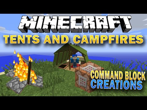 Minecraft Tents and Campfires - No Mods - Command Block Creation