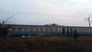 Авария на железной дороге. Обрыв контактной сети.