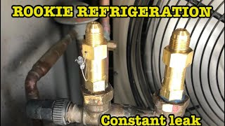 Refrigeration Videos:   Pressure Releif Valves leaking