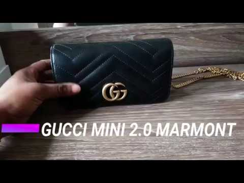 02f0afc2c3df4a WHAT FITS INSIDE?! | GUCCI GG MARMONT MINI 2.0 BAG - YouTube