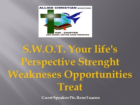 SWOT YOUR LIFE'S PERSPECTIVE STRENGHT WEAKNESSES OPPORTUNITIES TREATS