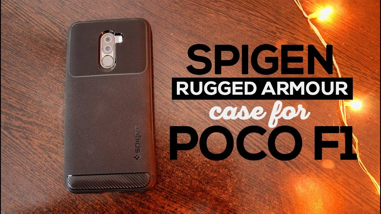 the best attitude 76713 2be55 Spigen Rugged Armor Case for Xiaomi Poco F1 | Best Case for Pocophone F1