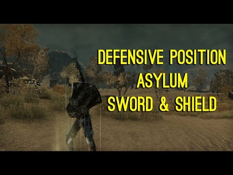 Defensive Position Asylum Sword & Shield - Clockwork City DLC