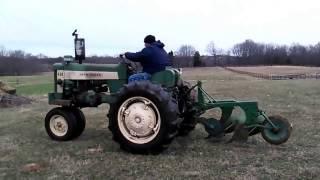 John Deere 430 plowing