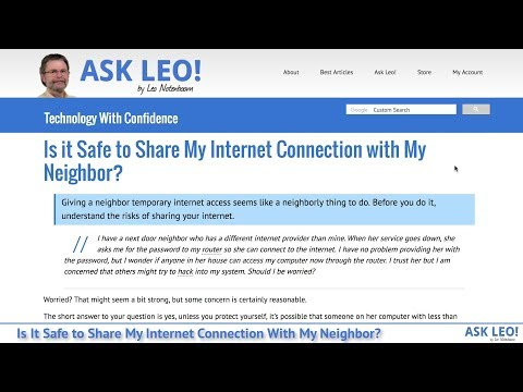 fc430fe5 Is it Safe to Share My Internet Connection with My Neighbor? - Ask Leo!