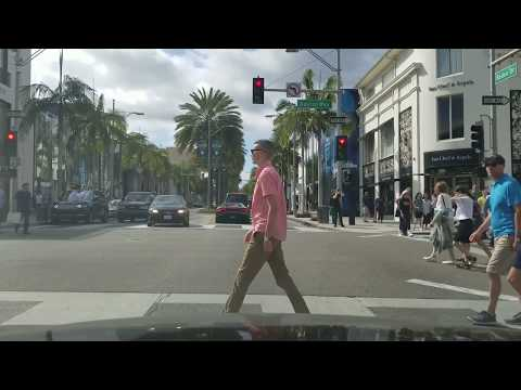 LA Dashcam Tour: Slow Driving on Rodeo Drive. June, 2017
