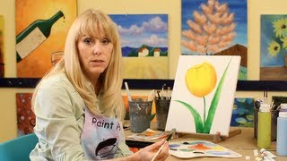 How to Paint a Tulip | Acrylic Painting