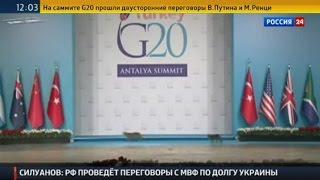 Кошки на сцене саммита G20