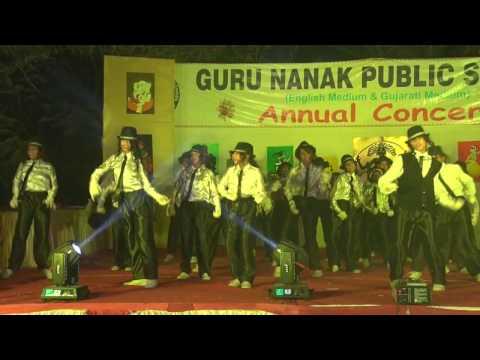 Michael Jackson dangures dance  GURU NANAK PUBLIC SCHOOL  VADODARA ANNUAL FUNCTION DANCE - 2017