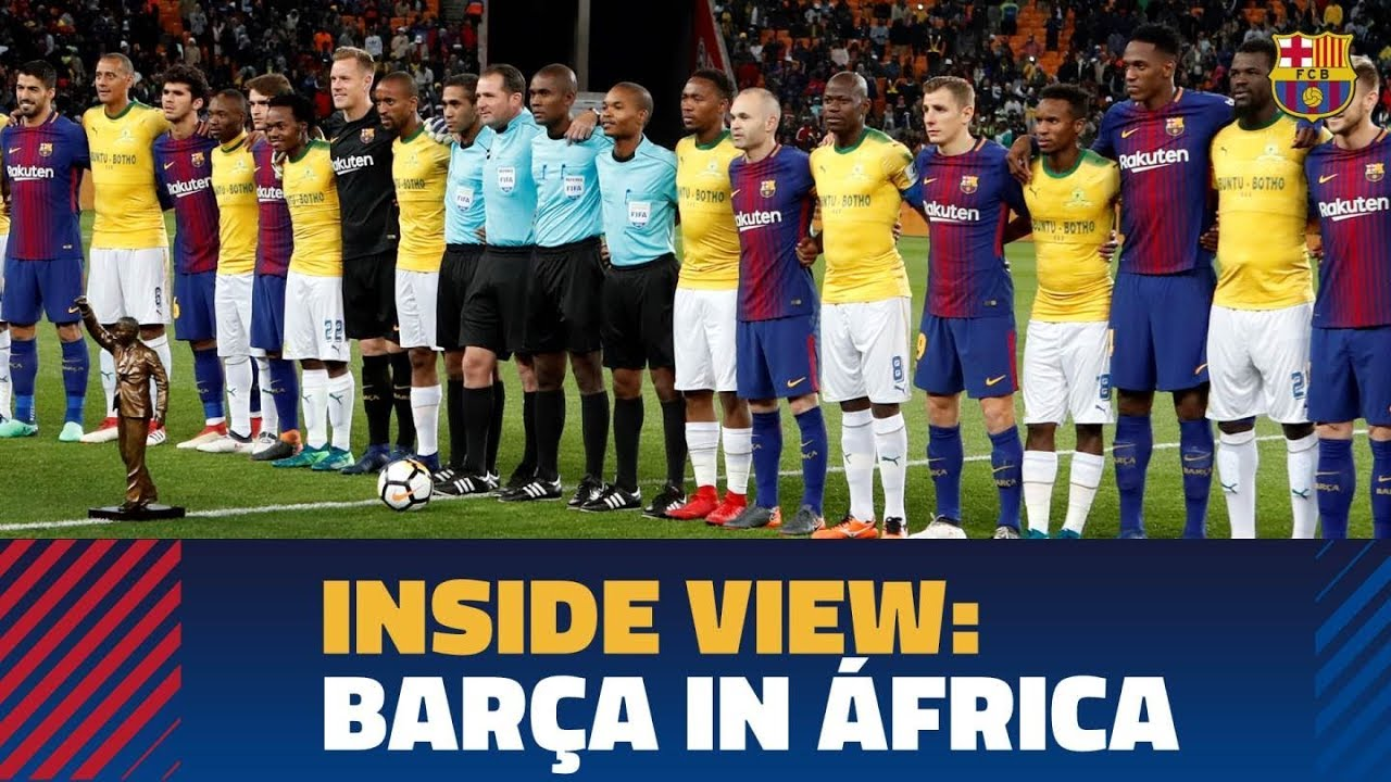 BEHIND THE SCENES  FC Barcelona s visit to South Africa - YouTube 9c7fcc8ac30