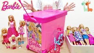 バービー #コレクション #人形収納 バービー人形の収納ケースにバービー...
