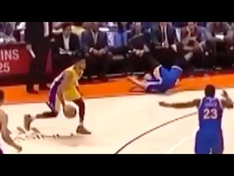 Steph Curry Gets Crossed Up By D'Angelo Russell