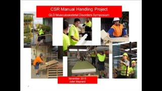 CSR Limited - Manual handling project