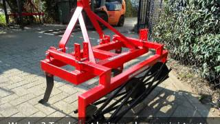 Woeler 3-Tands met buizenrol voor mini-tractor
