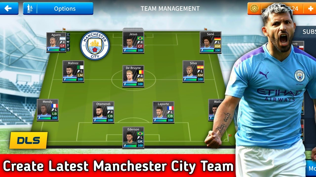 How To Create Latest Manchester City Team In Dream League Soccer 2019