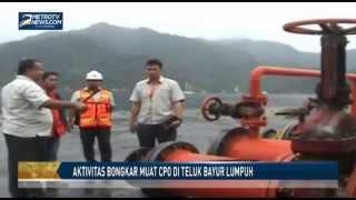 Aktivitas Bongkar Muat CPO di Teluk Bayur Lumpuh