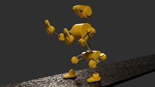 Анимация робота-собаки (часть №3)