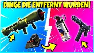 ❌ 5 DINGE die aus FORTNITE ENTFERNT wurden! ❌ Fortnite Battle Royale