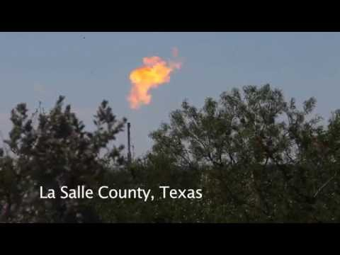 Flaring natural gas in the Eagle Ford Shale