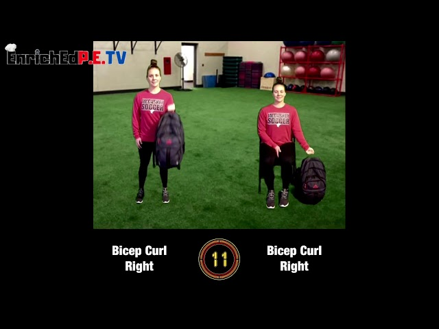 Coach McCoy- A.P.E.: Book Bag Workout (SEATED & STANDING) #2