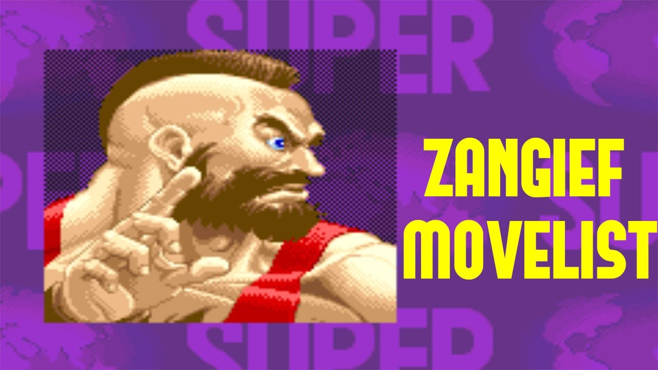 Super Street Fighter II: Turbo - Zangief Move List - YouTube