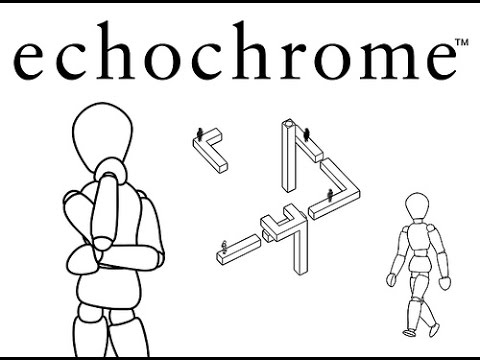 'Echochrome' (Playstation 3) gameplay, random levels, no commentary, no logos