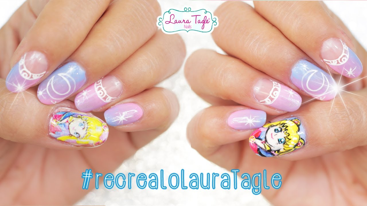 Haz Stickers De Uñas Con La Impresora De Tu Casa Sailor Moon Nail Art Recrealolauratagle