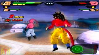 Dragon Ball Z Budokai Tenkaichi 2 Gameplay - SSJ4s VS Various Villains 【HD】