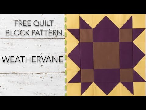 FREE Quilt Block Pattern: Weathervane