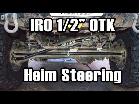 """89 Cherokee IRO 1/2"""" HD OTK Heim Steering Install"""