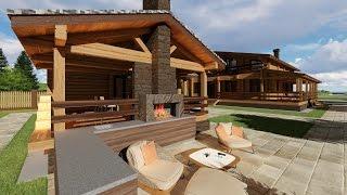 Проект дома и бани из бруса(Архитектурно - дизайнерская мастерская ArchMasters http://archmasters.ru/, 2016-05-15T19:55:02.000Z)