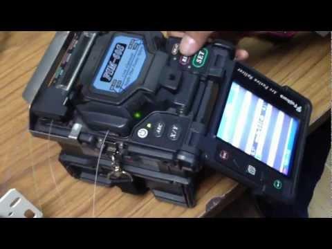 How to do fibre optics splicing?