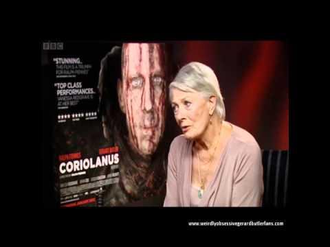 Film 2012 (BBC) on Coriolanus - Ralph Fiennes, Vanessa Redgrave and Gerard Butler