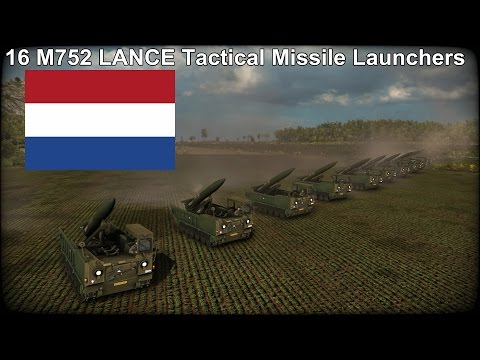 16 M752 LANCE Tactical Missile Launchers in Wargame Red Dragon