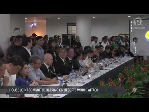 Opening of the House joint hearing on Resorts World attack