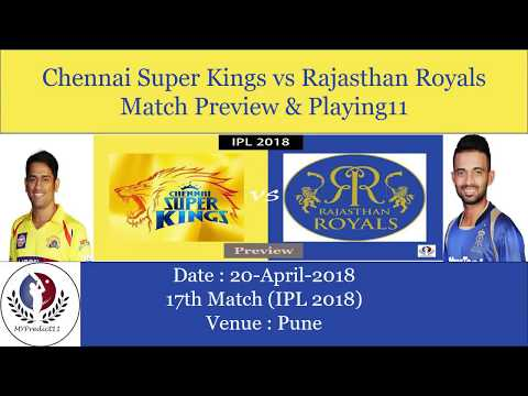 IPL 2018 | CSK Vs RR Match Prediction | Match NO: 17| Possible Playing 11