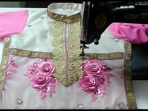 Lining suit with coller pattern and neck ,less design cutting and ...