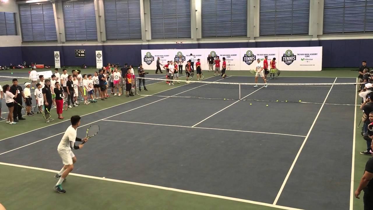 Rafa Nadal Academy Tennis Clinic at CSA - YouTube