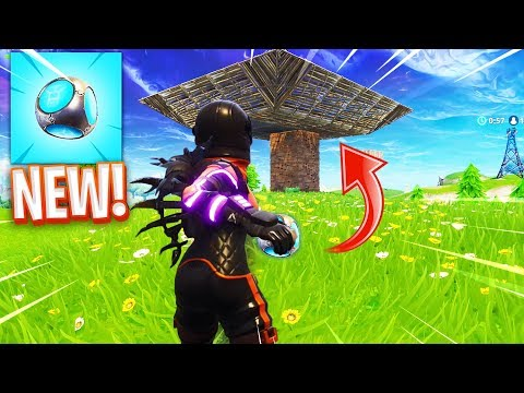 The NEW PORT-A-FORT Grenade in Fortnite