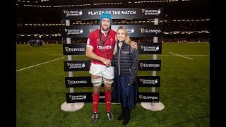 Justin Tipuric Guinness Six Nations Player of the Match Wales v Italy