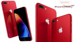 Product RED iPhone 8 & 8 Plus Released!