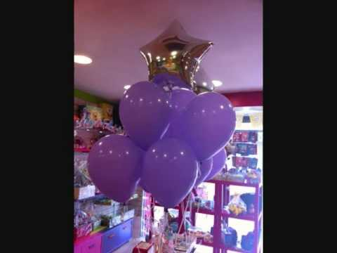 Decoracion para bautizos con globos malaga youtube for Decoracion de globos para bautizo