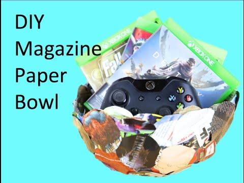 DIY Magazine Paper Bowl