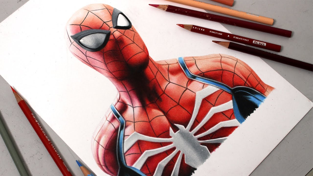 Desenhando O Spider Man Ps4 Speed Drawing Youtube