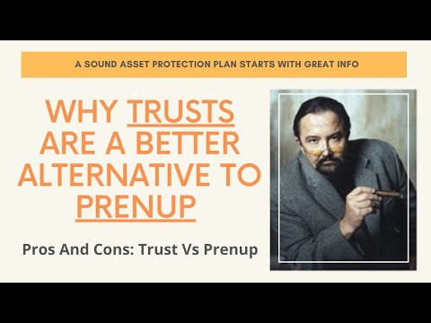 Divorce Prenups Prenuptial Agreement Asset Protection Trust Robs